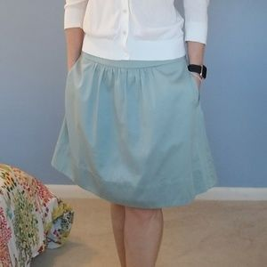 LOFT Blue Skirt. Size 6 with Pockets.